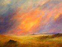 Himmel, Wüste, Malerei,