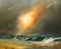 Welle, Wasser, Himmel, Wolken