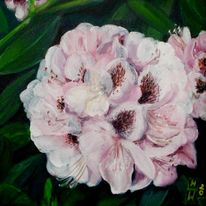 Blumen, Rhododendron, Acrylmalerei, Natur