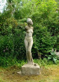 Venus skulptur zement, Plastik, Gegenständlich, Frosch