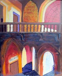 Tor, Treppe, Balkon, Malerei