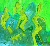 Figur, Tiere, Grün, Universum
