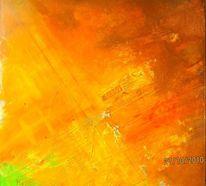 Luftaufnahme, Rollfeld, Wind, Malerei