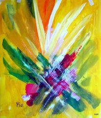 Früchte, Laub, Farben, Malerei