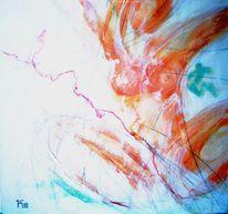 Zypern, Wasser, Frau, Malerei