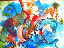 Untergang, Menschen, Tiere, Malerei