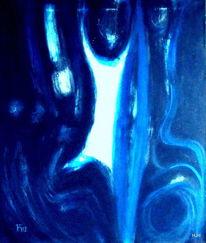 Bewegung, Blau, Tanz, Malerei
