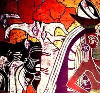 Affenbrot, Schwarz, Menschen, Malerei