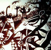Schwarz, Tiere, Tanz, Malerei