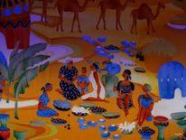 Kamel, Frau, Bla bla, Malerei