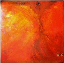 Tanz, Feuer, Rot, Malerei