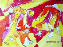 Zirkus, Rot, Tänzer, Gelb