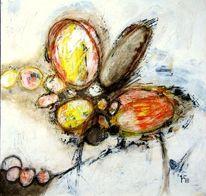 Affenbrot, Papaya, Mango, Malerei