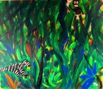 Tiere, Urwald, Geist, Malerei