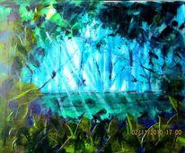 Baum, Pflanzen, Wasser, Malerei