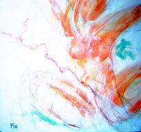 Rot, Mix, Acrylmalerei, Malerei