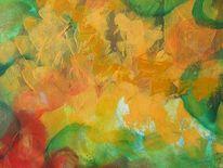 Blätter, Herbst, Farben, Malerei
