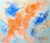 Blau, Orange, Alien, Malerei