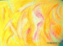 Leichtigkeit, Botschaft, Flügel, Malerei