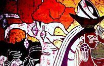 Baum, Frau, Schwarz, Malerei