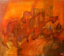 Panik, Feuer, Tiere, Malerei
