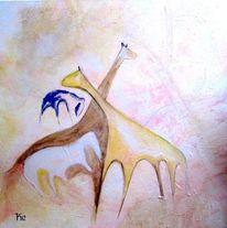 Dinosaurier, Elefant, Giraffe, Malerei
