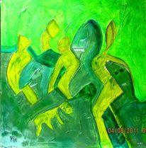 Figur, Soldat, Grün, Malerei