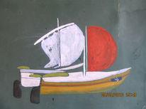 Mast, Wasser, Schiff, Segel