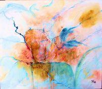 Bewegung, Blau, Teufel, Malerei