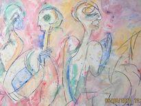 Menschen, Rede, Finger, Malerei