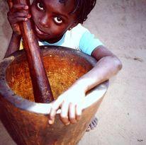 Afrika, Schwarz, Mädchen, Fotografie