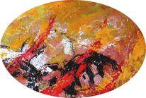 Magma, Hölle, Malerei, Abstrakt