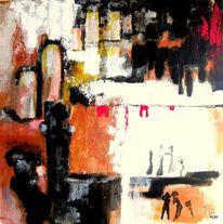 Arena, Bühne, Menschen, Malerei