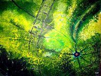 Leiter, Augen, Grün, Malerei