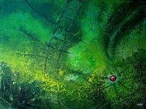 Leiter, Grün, Augen, Malerei