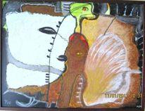 Ente, Widehopf, Geist, Malerei