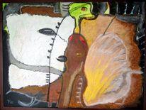 Vogel, Tiere, Gesicht, Malerei