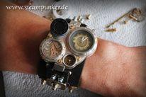 Herrenuhr, Steampunk, Uhr, Armschiene