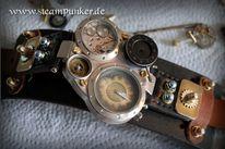 Uhr, Herrenuhr, Steampunk, Wristwatch
