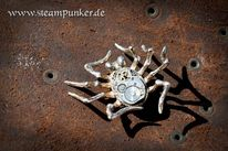 Schmuck, Spinne, Mechanik, Steampunk