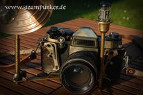 Steampunk, Spiegelreflexkamera, Mechanik, Clockworker