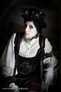 Steampunk, Kleid, Mode, Outfit