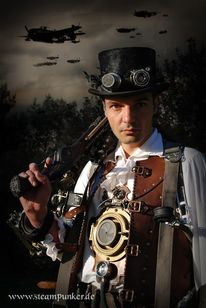Kleid, Clockworker, Steampunk, 2012