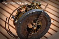 Mechanik, Gothic, Tischuhr, Steampunk