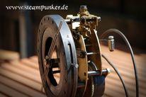 Steampunk, Uhr, Schlesier, Mechanik