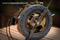 Schlesier, Uhr, Steampunk, Tischuhr
