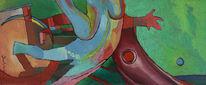 Malerei, Abstrakt, Sohn,