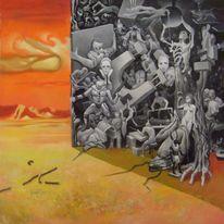Oil picture, 抽象艺术, Wahnsinn, Europa