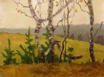 Landschaft, Walldimitri, Oil pictures, Oil picture