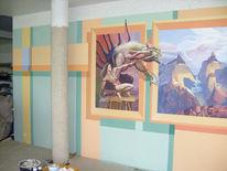 Iserlohn, Wandmalerei, Mauer, Freiheit